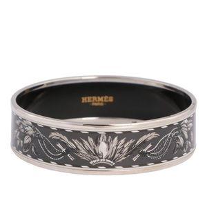 Hermès Wide Brazil Enamel Bangle 65 Bracelet